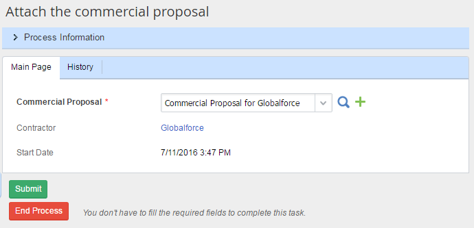 Attach the Commercial Proposal